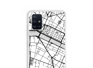Put a city map on your Galaxy A51 case