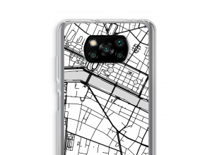 Put a city map on your Xiaomi Poco X3 NFC case