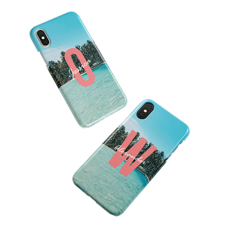 Put your monogram on a Samsung Galaxy S9 Plus smartphone case